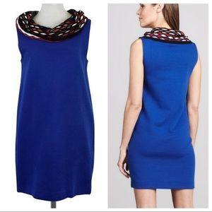 M by Missoni Jersey cowl neck blue dress